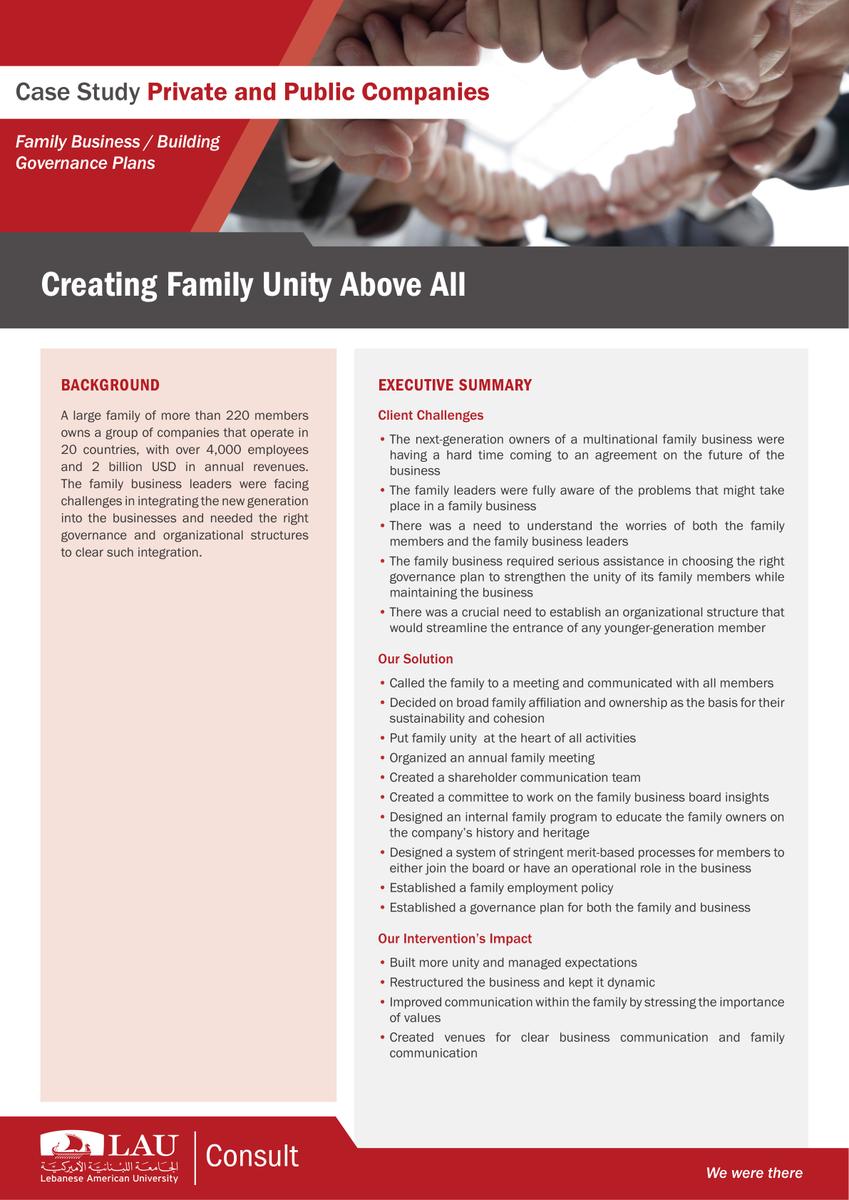 CreatingFamilyUnity