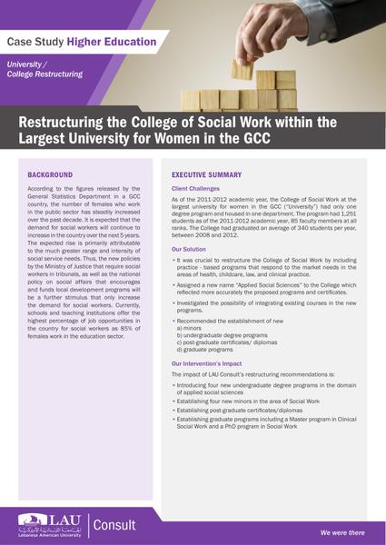 RestructuringCollegeSocialWorkGCC